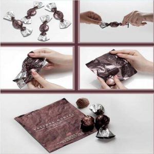 Candywrapper business card