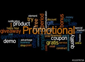 Promotional brand name banner